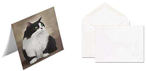 Black And White Persian Cat Greeting Card