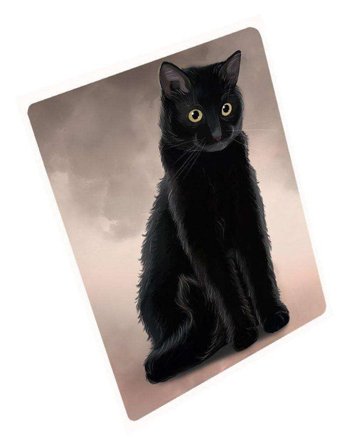 "Black Cat Magnet Mini (3.5"" x 2"")"