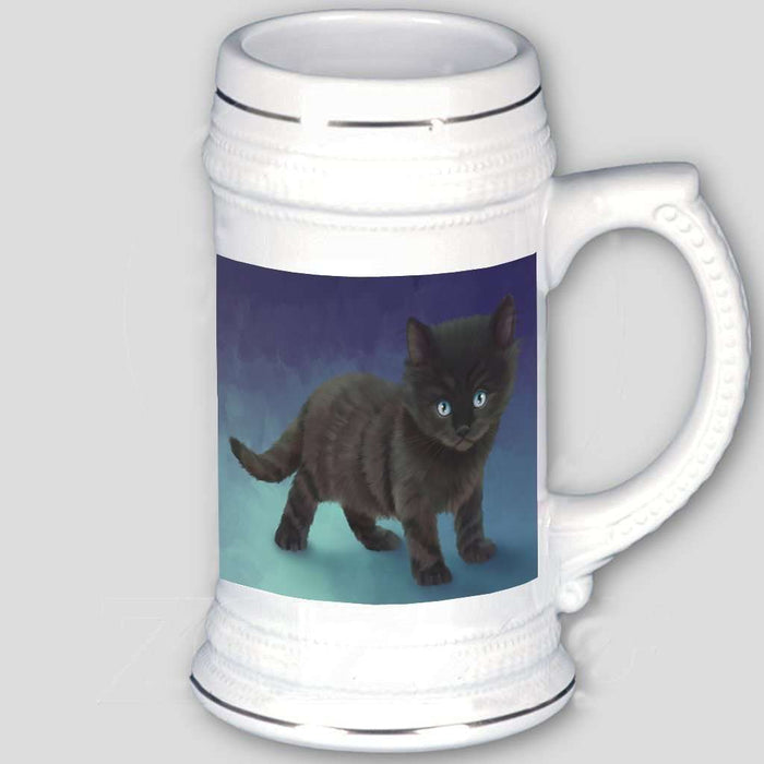 Black Kitten Cat Beer Stein