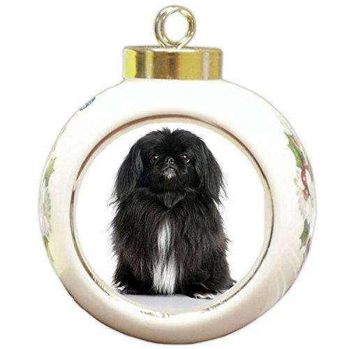 Black Pekingese Christmas Holiday Ornament