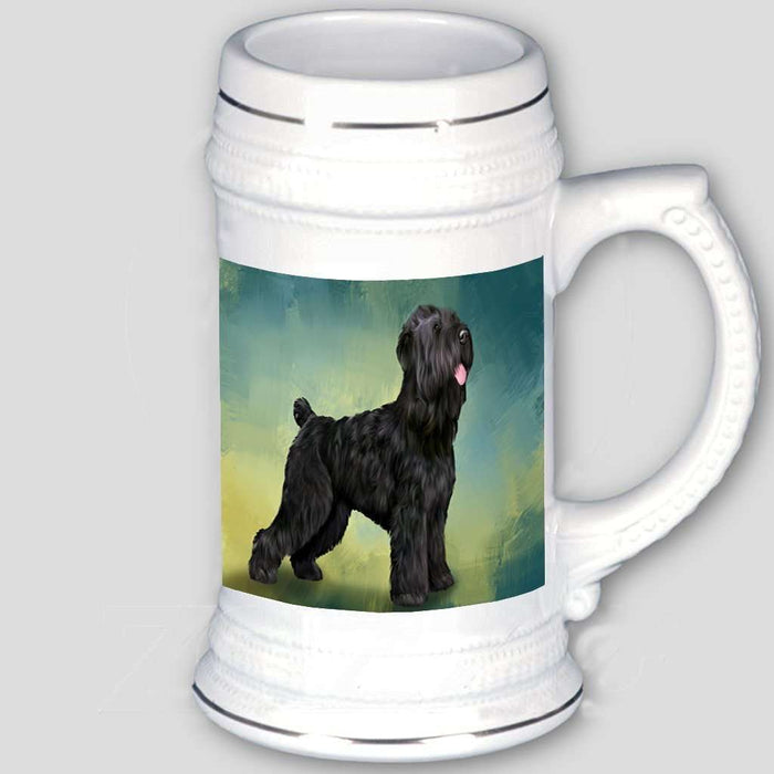 Black Russian Terrier Dog Beer Stein