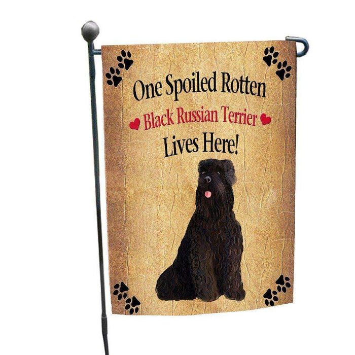 Black Russian Terrier Spoiled Rotten Dog Garden Flag