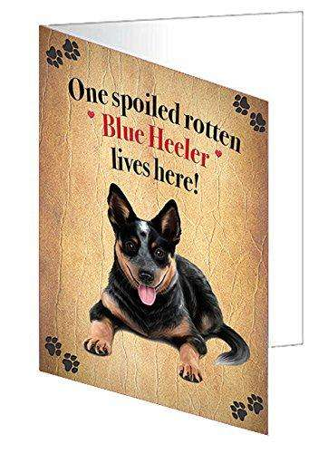 Blue Heeler Spoiled Rotten Dog Note Cards