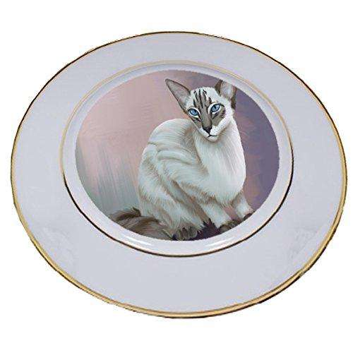 Blue Lynx Point Javanese Cat Porcelain Plate