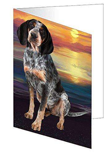 Bluetick Coonhound Dog Greeting Card D245