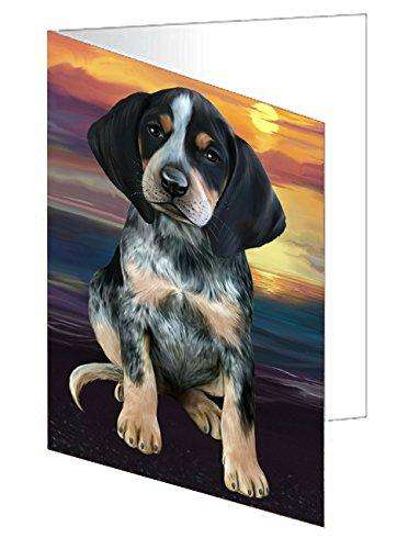 Bluetick Coonhound Dog Greeting Card D247