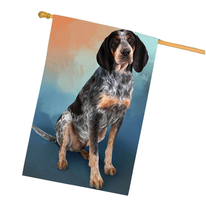 Bluetick Coonhound Dog House Flag