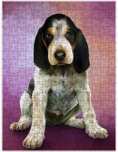 Bluetick Coonhound Dog Puzzle with Photo Tin