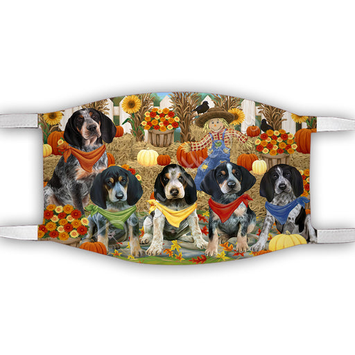 Fall Festive Harvest Time Gathering  Bluetick Coonhound Dogs Face Mask FM48515