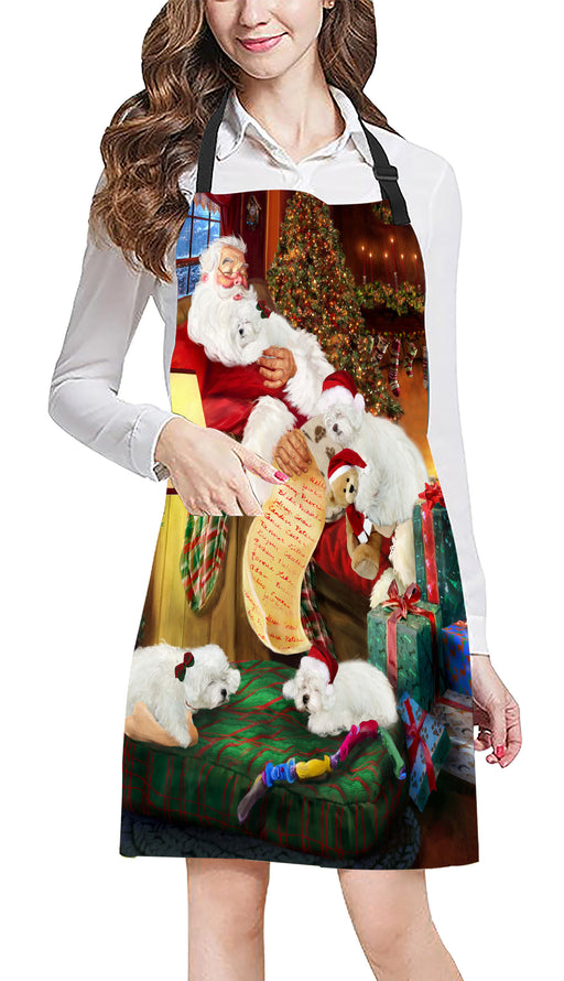 Santa Sleeping with Bolognese Dogs Apron