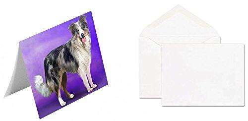 Border Collie Blue Merle Dog Note Card