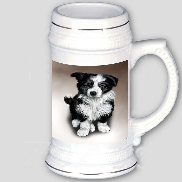 Border Collie Dog Beer Stein