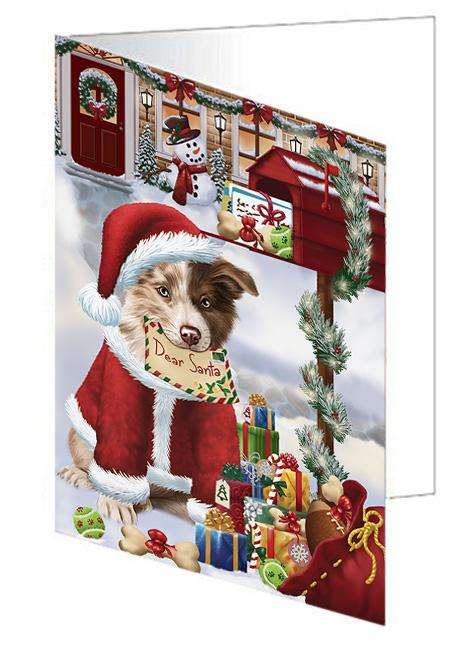 Border Collie Dog Dear Santa Letter Christmas Holiday Mailbox Greeting Card GCD65645