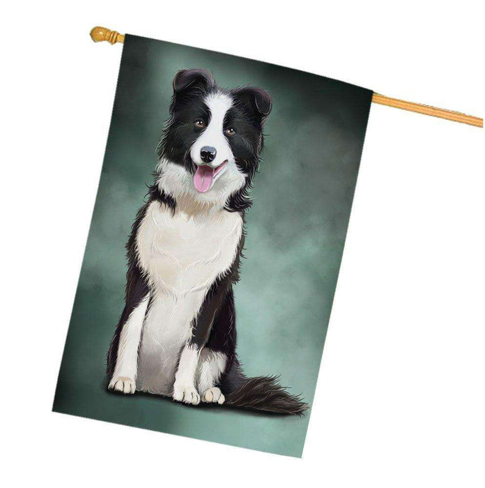 Border Collie Dog House Flag
