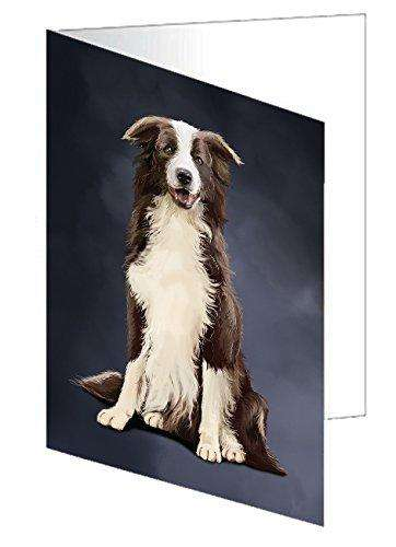 Border Collie Dog Note Card