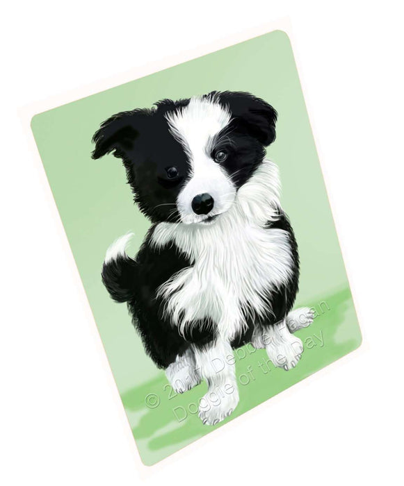 Border Collie Dog Tempered Cutting Board