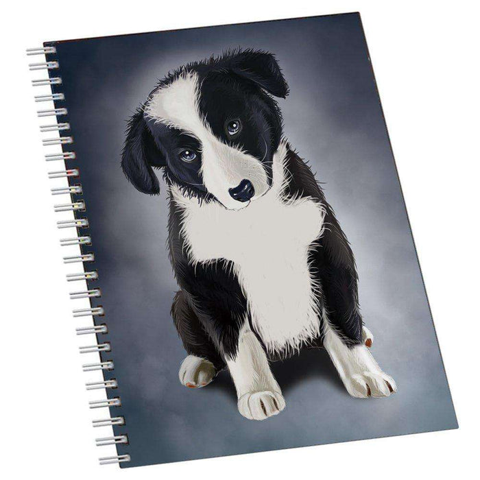 Border Collie Puppy Dog Notebook