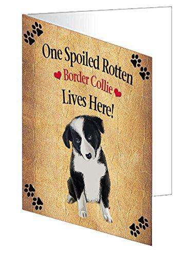 Border Collie Puppy Spoiled Rotten Dog Greeting Card
