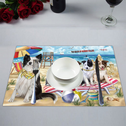 Pet Friendly Beach Border Collie Dogs Placemat