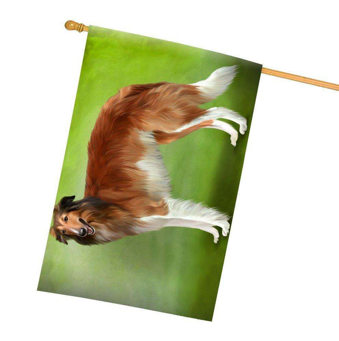 Borzoi Dog All Weather House Flag