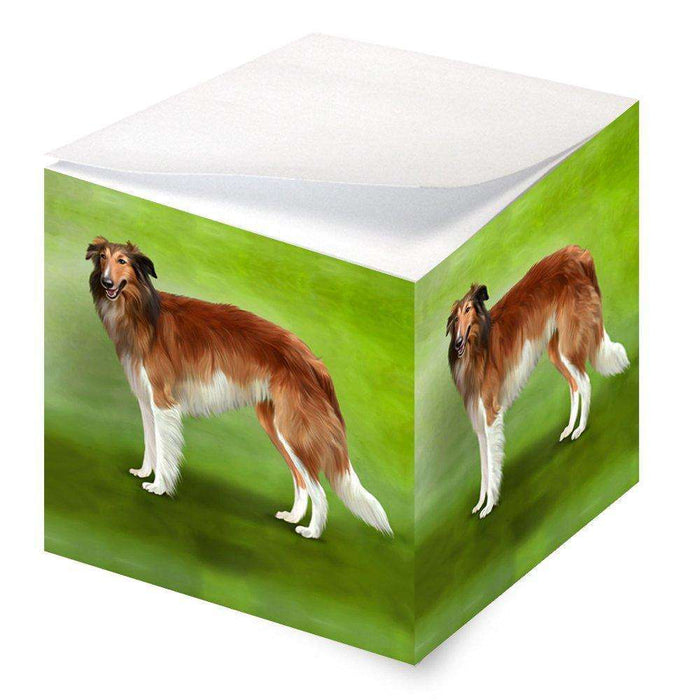 Borzoi Dog Note Cube