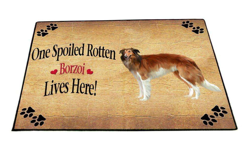 Borzoi Spoiled Rotten Dog Indoor/Outdoor Floormat