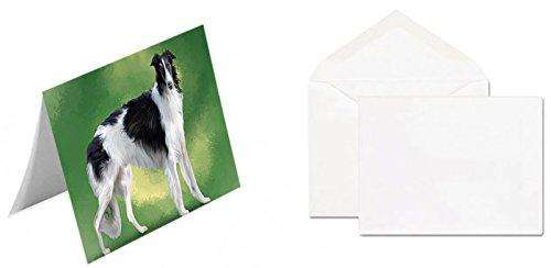 Borzois Dog Greeting Card D083