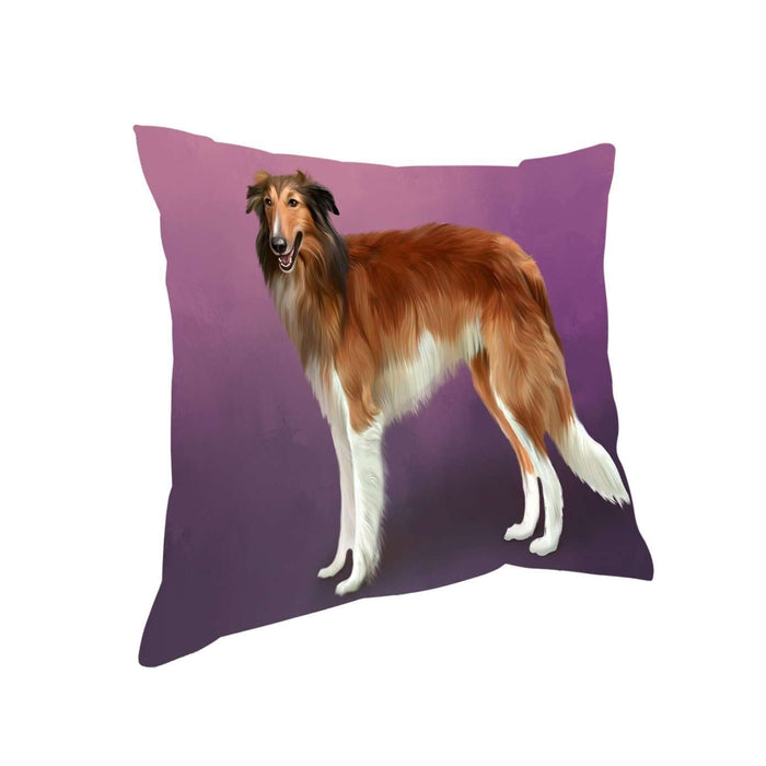 Borzois Dog Throw Pillow D276