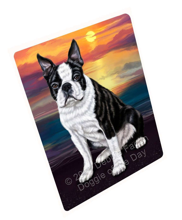 "Boston Terrier Dog Magnet Mini (3.5"" x 2"")"