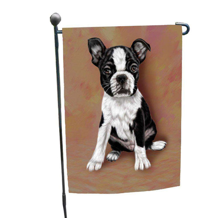 Boston Terrier Puppy Dog Garden Flag