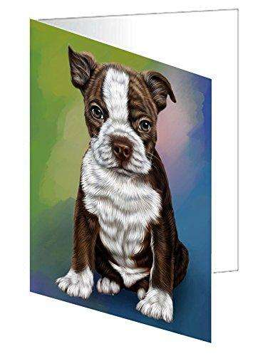 Boston Terrier Puppy Dog Greeting Card
