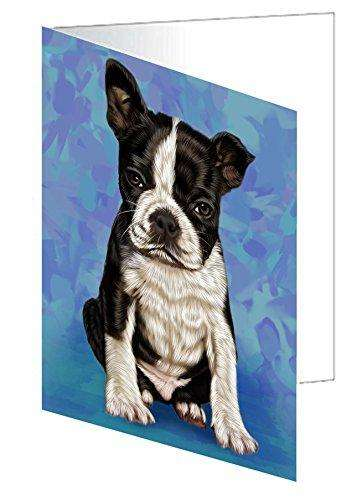 Boston Terrier Puppy Dog Note Card