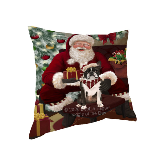 Santa's Christmas Surprise Boston Terrier Dog Pillow PIL87116