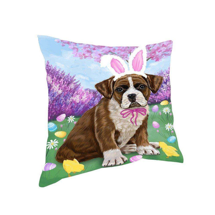 Boxer Dog Easter Holiday Pillow PIL52120