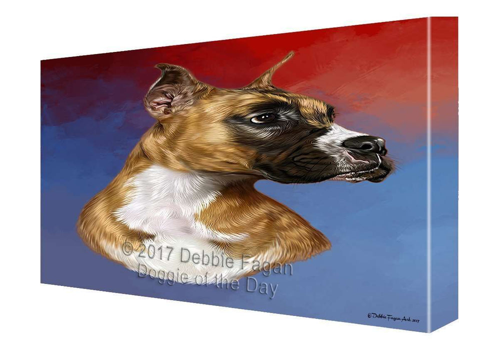 Boxer Dog Painting Printed on Canvas Wall Art