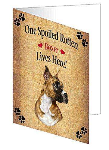 Boxer Spoiled Rotten Dog Greeting Card