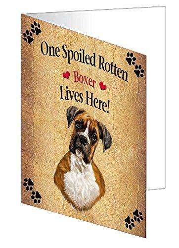 Boxer Spoiled Rotten Dog Note Card