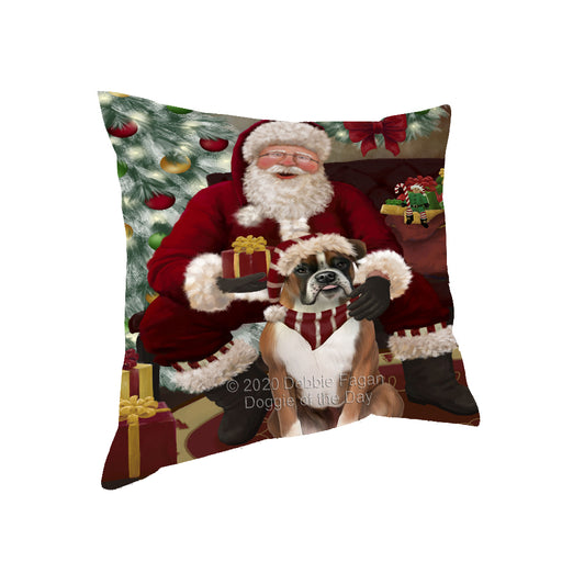 Santa's Christmas Surprise Boxer Dog Pillow PIL87120