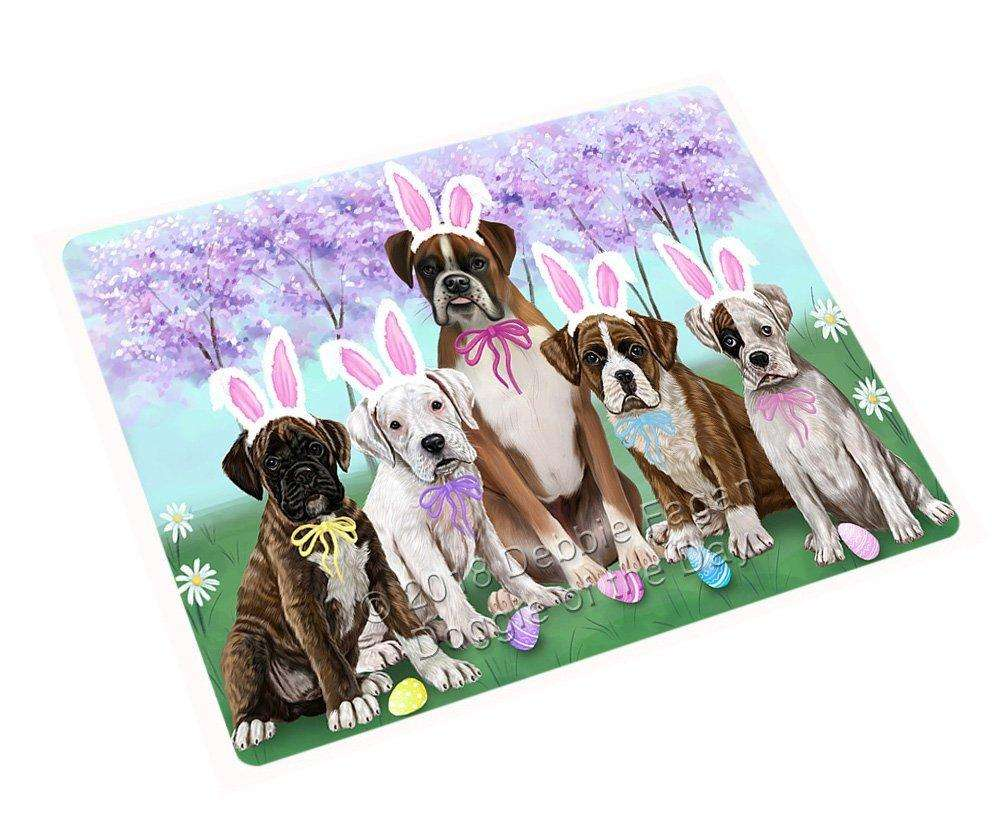 Boxers Dog Easter Holiday Large Refrigerator / Dishwasher Magnet RMAG54126