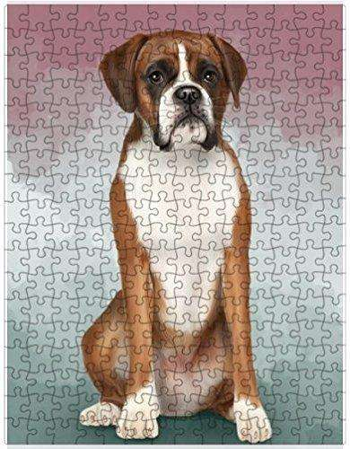 Boxers Dog Puzzle with Photo Tin D046