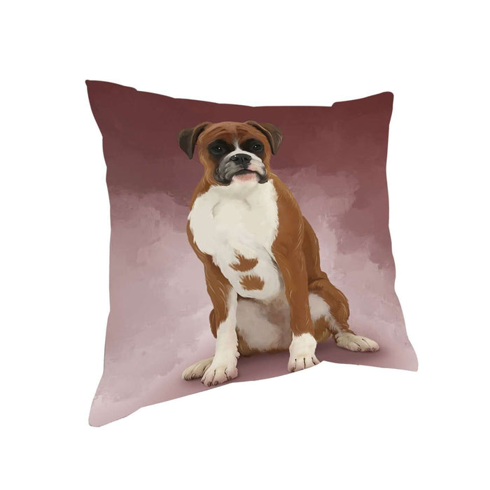 Boxers Dog Throw Pillow D286