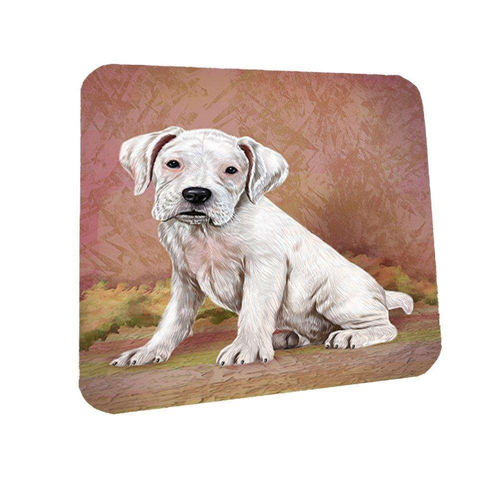 Boxers Puppy Dog Coasters Set of 4