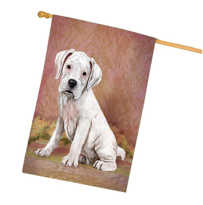 Boxers Puppy Dog House Flag