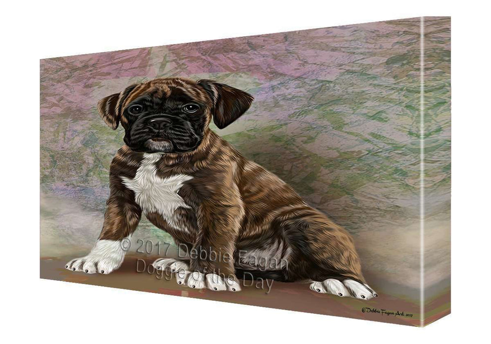 Boxers Puppy Dog Painting Printed on Canvas Wall Art