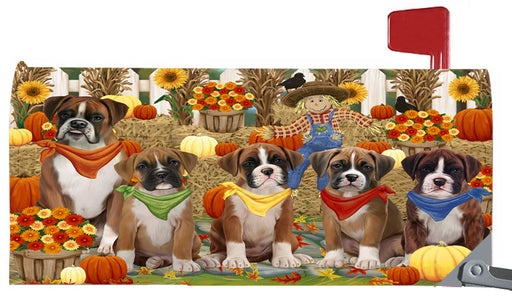 Magnetic Mailbox Cover Harvest Time Festival Day Boxers Dog MBC48025