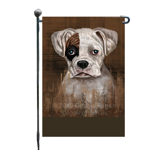Personalized Rustic Boxer Dog Custom Garden Flag GFLG63451