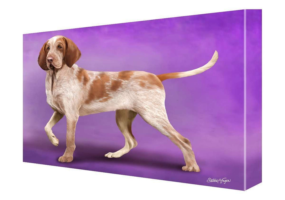 Bracco Italiano Dog Painting Printed on Canvas Wall Art Signed