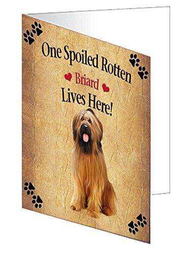 Briard Spoiled Rotten Dog Greeting Card