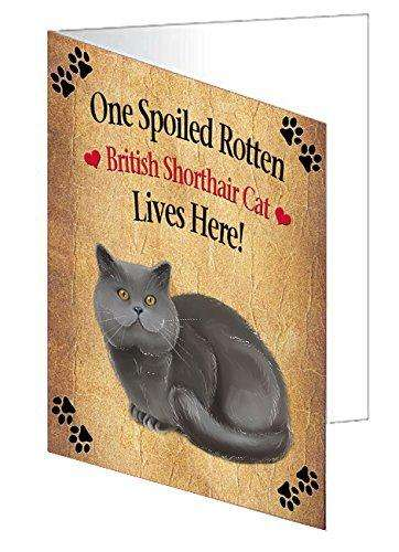 British Shorthair Spoiled Rotten Cat Note Card