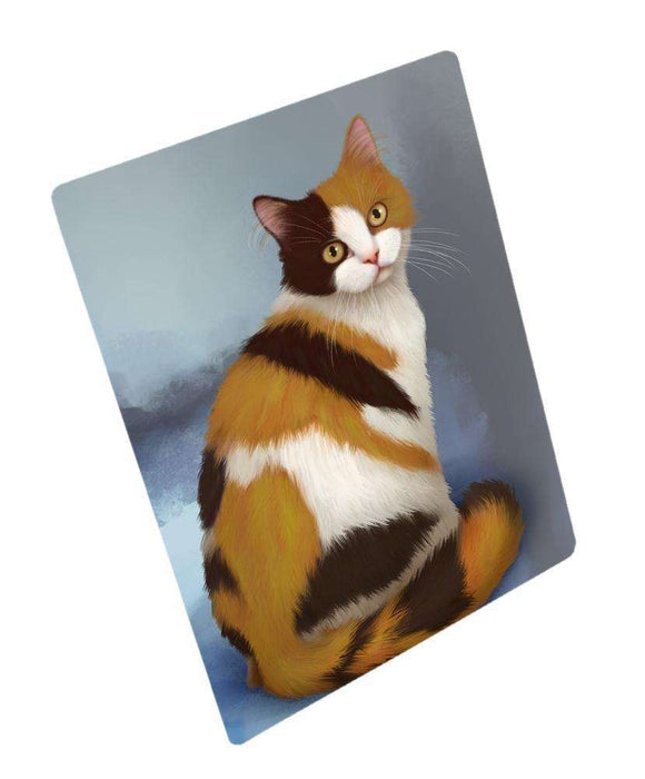 British Shorthaired Calico Cat Art Portrait Print Woven Throw Sherpa Plush Fleece Blanket